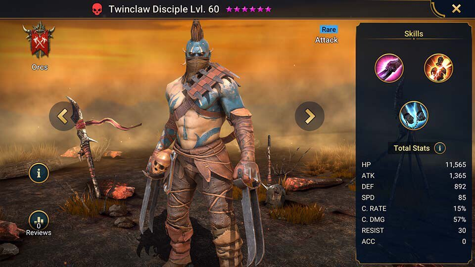 twinclaw disciple